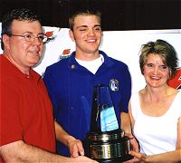 Wally, Chris & Betsy Lubanski - 2003 Gatorade National HS Player Baseball Player of the Year