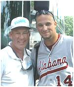 Coach Steve Cosgrove and Evan Bush (University of Alabama), BOB-NTT alumni, Rainbow City, AL
